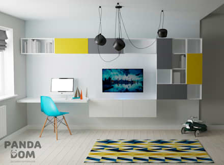 """Современная квартира в """"Виленском маентке"""". Modern appartment.: Спальни для мальчиков в . Автор – дизайн-студия PandaDom"""