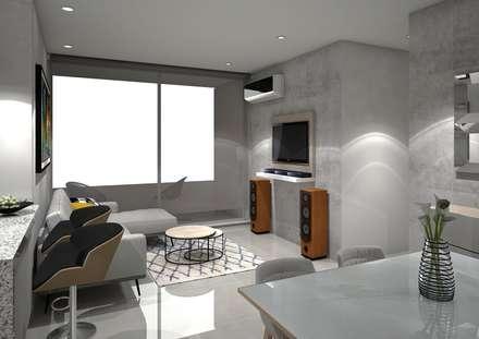 : Salas de estilo moderno por ecoexteriores