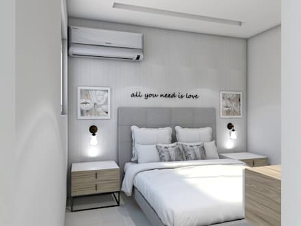 : Habitaciones de estilo moderno por ecoexteriores