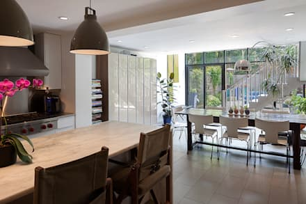 Carroll Gardens Townhouse: modern Kitchen by andretchelistcheffarchitects