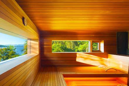 Hudson Valley Spa: Sauna By Andretchelistcheffarchitects