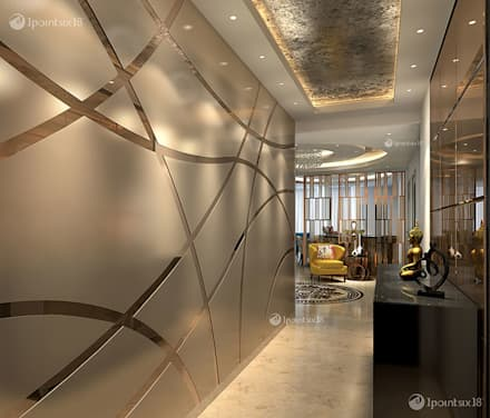 Apartment at The Belaire, DLF 5, Gurgaon (4200 sft):  Corridor & hallway by 1pointsix18