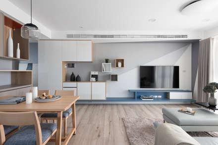 淺培北歐:  客廳 by 寓子設計
