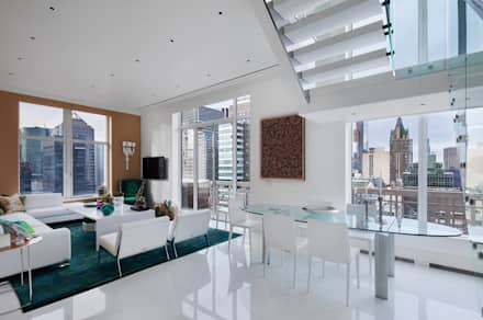 Park Avenue Duplex: modern Dining room by andretchelistcheffarchitects