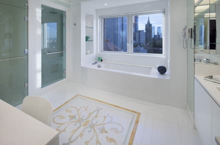 Park Avenue Duplex: modern Bathroom by andretchelistcheffarchitects