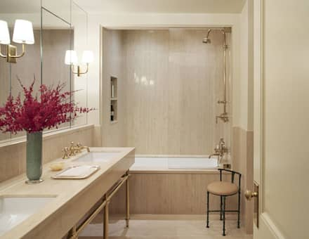 West Village Townhouse: classic Bathroom by andretchelistcheffarchitects