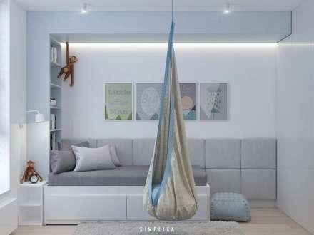 modern Nursery/kid's room by SIMPLIKA