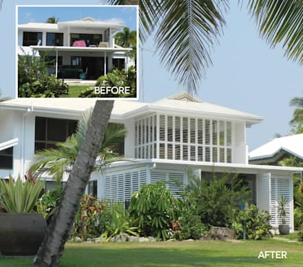 Aluminium Shutters - Outdoor Rooms:  Patios & Decks by TWO Australia
