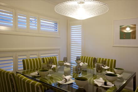 Plantation Shutters - Dining Rooms: colonial Dining room by TWO Australia