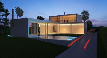 Hồ bơi trong vườn by Maia e Moura Arquitectura