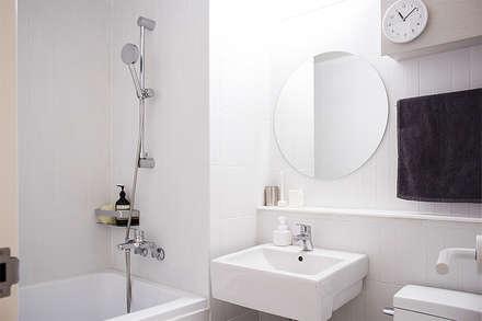 오피스텔 인테리어: 플레이디자인의  화장실