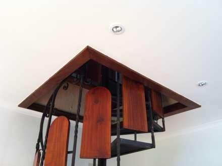 Remodelación Casa Arratia: Pasillos, hall y escaleras de estilo  por ARCOP Arquitectura & Construcción