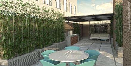 APARTAMENTO VALENBO | Residencial: Terrazas de estilo  por C | C INTERIOR ARCHITECTURE