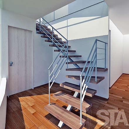 Escalera: Pasillos y vestíbulos de estilo  por Soluciones Técnicas y de Arquitectura