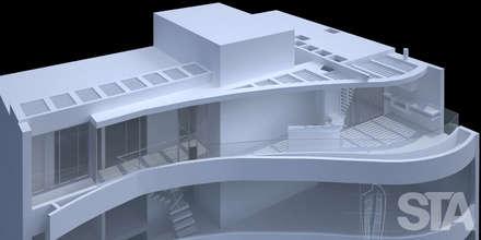Vista Volumétrica : Casas de estilo minimalista por Soluciones Técnicas y de Arquitectura