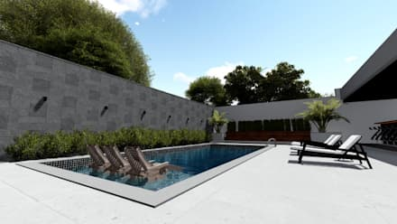 Garden Pool by Milward Arquitetura