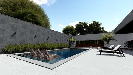 Piscinas de jardín de estilo  por Milward Arquitetura