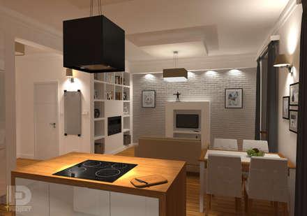 STARA KAMIENICA - Apartament 60 m2: styl , w kategorii Salon zaprojektowany przez HD PROJEKT