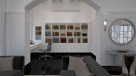 colonial Study/office by RVK DESIGNS ARCHITECTURE & INTERIOR