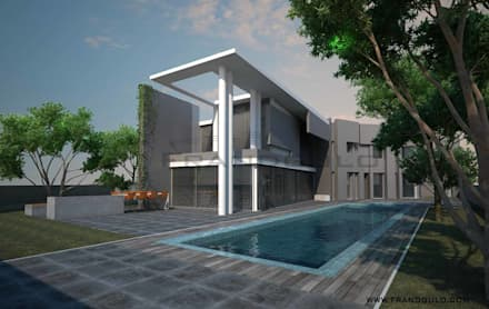 Дом с бассейном: Дома с террасами в . Автор – Frandgulo
