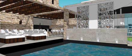 Villa contemporaine 2: Piscines  de style  par Architecture interieure Laure Toury