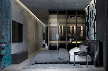 industrial Bedroom by U-Style design studio
