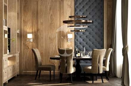 Интерьер с элементами шале: Столовые комнаты в . Автор – U-Style design studio