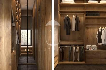Интерьер с элементами шале: Гардеробные в . Автор – U-Style design studio
