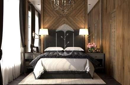 Интерьер с элементами шале: Спальни в . Автор – U-Style design studio