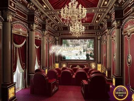 Best home cinema design of Katrina Atonovich: classic Media room by Luxury Antonovich Design