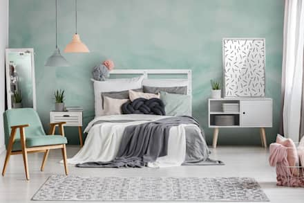 Scandinavian Mint: Scandinavian Bedroom By Pixers