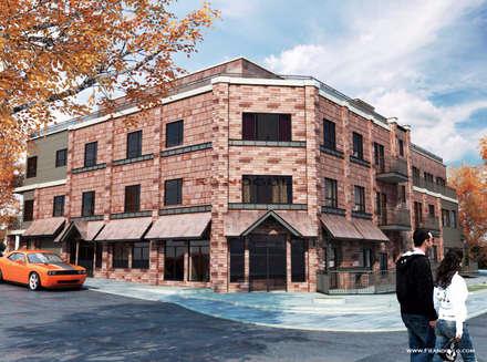 Дизайн экстерьера здания: Многоквартирные дома в . Автор – Frandgulo