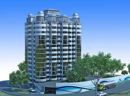 Дизайн экстерьера многоэтажного здания: Многоквартирные дома в . Автор – Frandgulo