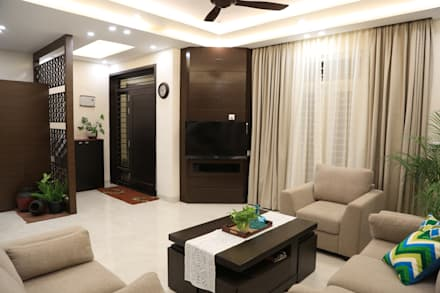 Living Room: modern Living room by Bonito Designs Bangalore