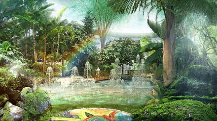 PAISAJISMO: Espacios comerciales de estilo  de AMUSEMENT LOGIC S.L.