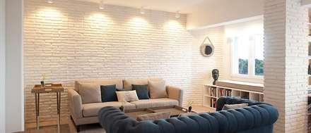 reforma integral de vivienda en lekeitio salones de estilo industrial de sube susaeta interiorismo - Interiorismo Salones