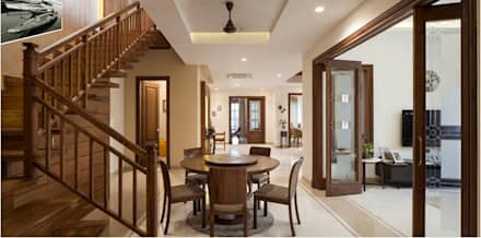 Aggarwal Residence:  Corridor & hallway by groupDCA
