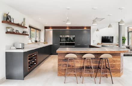 Rose Project:  Built-in kitchens by Dan Wray Photography