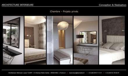 Chambres-Bedroom: Chambre de style de style Moderne par Architecture interieure Laure Toury