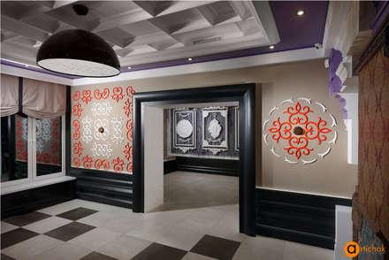 Все декоративные элементы оформлены в одном стиле и гармонично сочетаются друг с другом: Коммерческие помещения в . Автор – Art-i-Chok