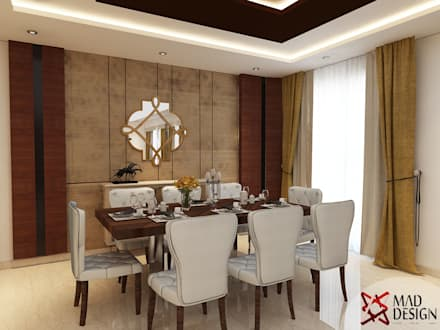 DINING AREA - VIEW 1: modern Dining room by MAD DESIGN