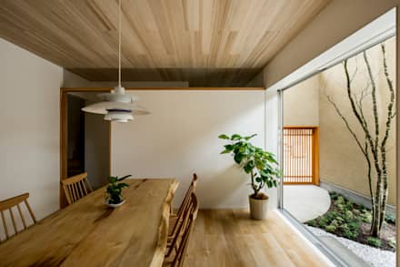 京町の家: HEARTH ARCHITECTS/ハース建築設計事務所が手掛けたダイニングです。