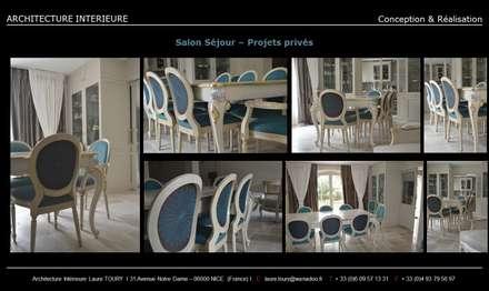 Salle à manger - Dining room: Salle à manger de style de style Classique par Architecture interieure Laure Toury
