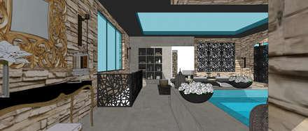 Villa contemporaine 2: Spa de style de style Minimaliste par Architecture interieure Laure Toury