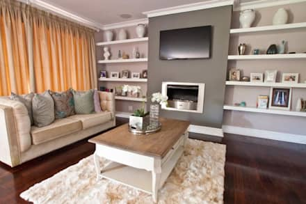 House Watkins : classic Living room by Redesign Interiors