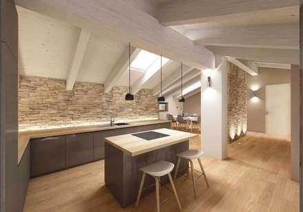 APPARTAMENTO MP: Cucina in stile in stile Moderno di dga architetti
