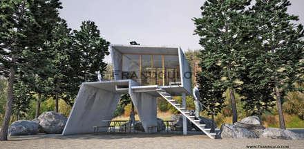 Коттедж в стиле авангард: Дома с террасами в . Автор – Frandgulo