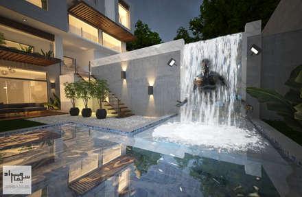 Trio Villa water falls:  Villas by Saif Mourad Creations - SMC