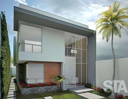 : Casas de estilo moderno por Soluciones Técnicas y de Arquitectura