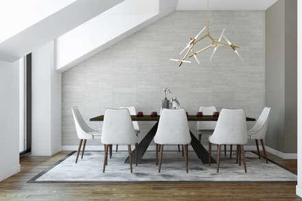 River Side Duplex: Salas de jantar modernas por DZINE & CO, Arquitectura e Design de Interiores